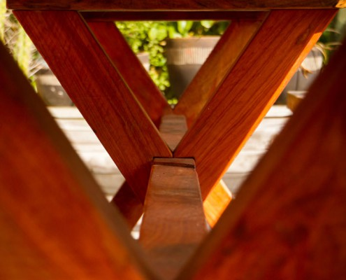 outdoor table joinery