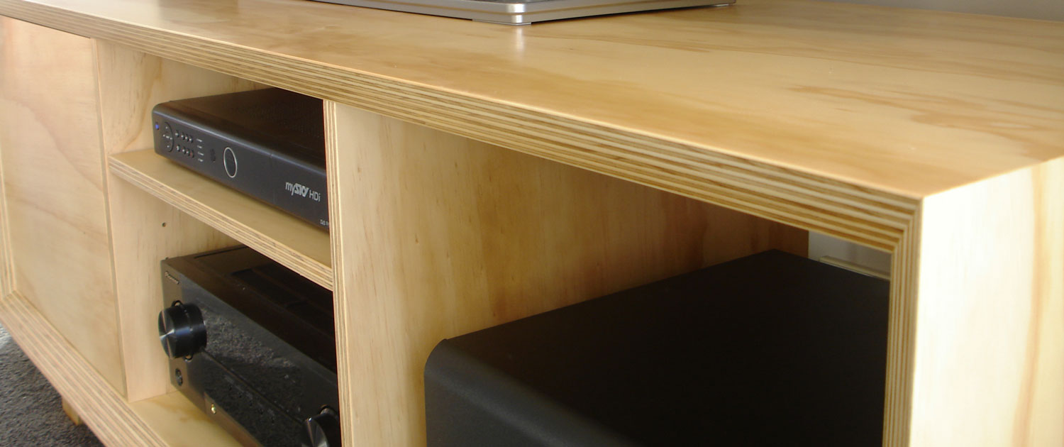 Modern Ply Entertainment Unit Woodspace