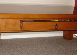 coffee table with drawer alt view